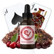 black jack cherry e-juice is a cherry and tobacco flavor.